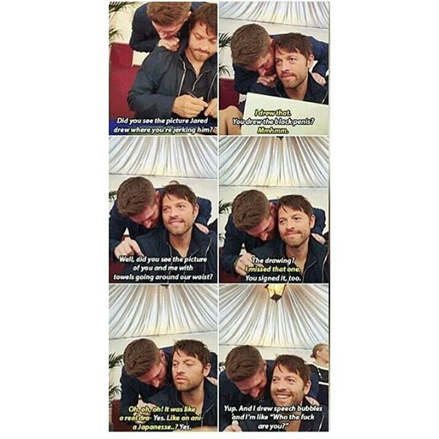 Jensen and Misha talking about Destiel Smut!! These guys probably have seen more than we'd ever expect.