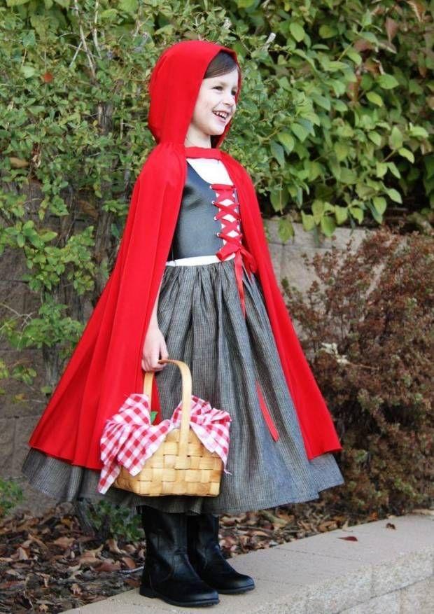 Beliebte Karneval-und Faschingskostüme für Mädchen-Rotkäppchen