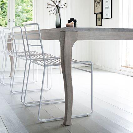 Esszimmerstuhl Dining Chair KYST weiß Metall Ygg&Lyng