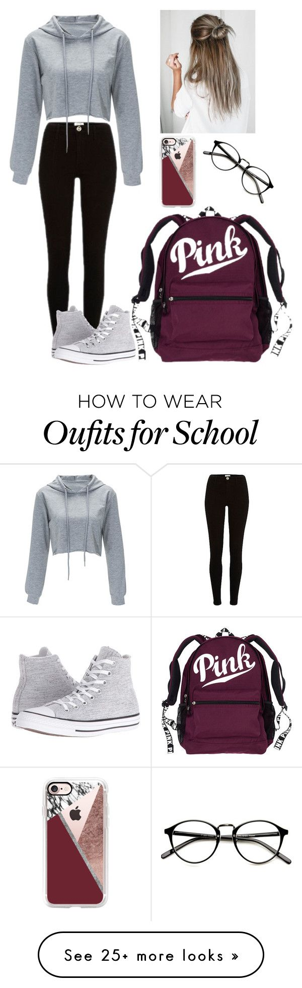 """""""School #11"""" by radickerson85 on Polyvore featuring Converse and Casetify"""