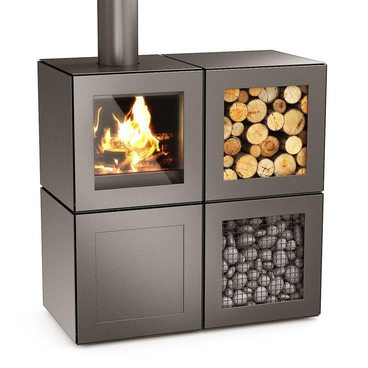 Philippe Starck designs modular Speetbox wood-burning stove                                                                                                                                                                                 More