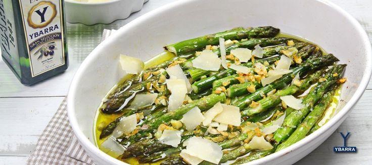 Receta de Espárragos verdes al horno con ajo y limón