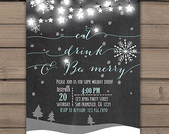 Christmas invitation DIY printable Christmas by justalittlesparkle