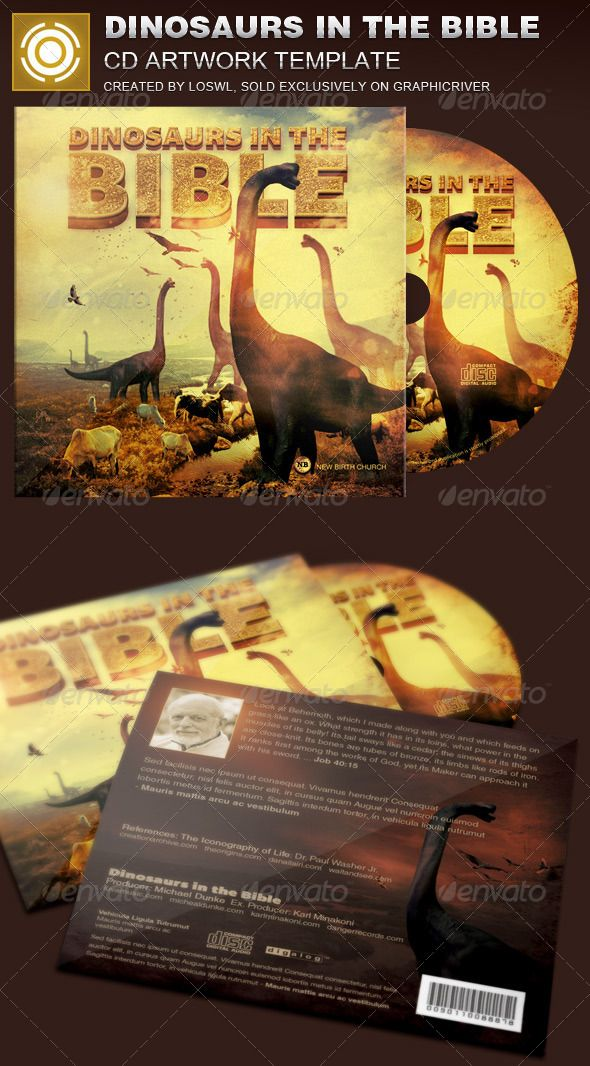 The Dinosaurs in the Bible CD Artwork Template is sold exclusively on graphicriver, it can be used for your Church Events, Sermons, Gospel Concert etc, or for any other marketing projects.