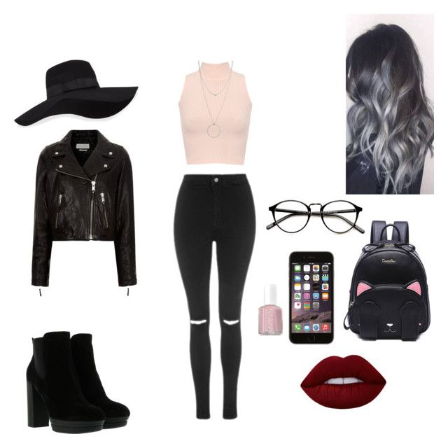 """""""Kqkslz"""" by conimallete on Polyvore featuring moda, Topshop, WearAll, Hogan, San Diego Hat Co., Botkier, Étoile Isabel Marant, Essie y Lime Crime"""