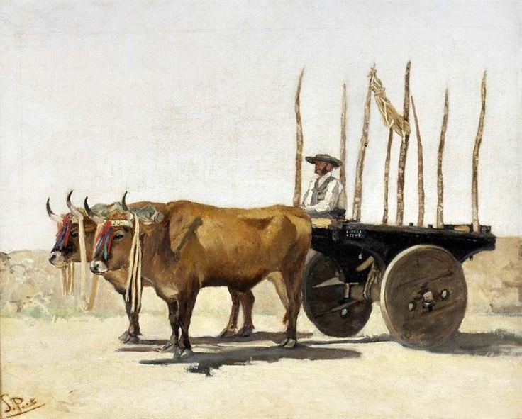 Carro de bois - António de Carvalho da Silva Porto - WikiArt.org