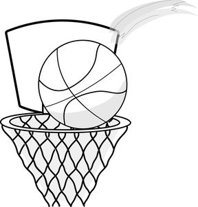 Basketball Hoop Clip Art Black and White | Quilt patterns ...
