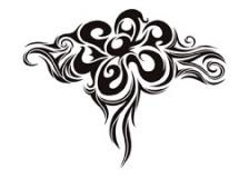 Sweet Tribal Flower Tattoo