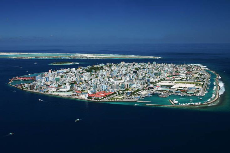 Capital das Maldivas - Vista aérea