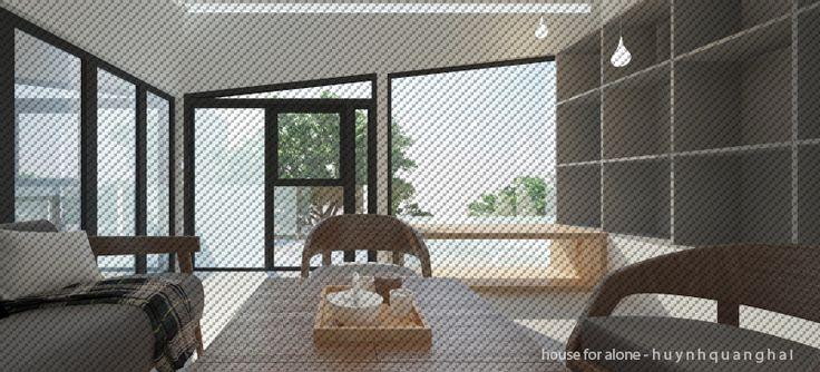 "Living room - Concept ""house for alone"" - h u y n h q u a n g h a i"