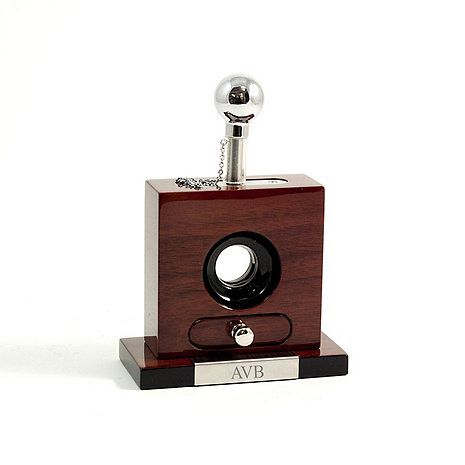 Monogrammed Guillotine Cigar Cutter at Wine Enthusiast - $134.95 - CRAIG