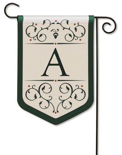 Exceptional Grande Manor Monogram A Garden Flag, FREE Shipping!