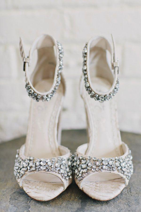 Stylish Green Building Wedding Shoes Bridal