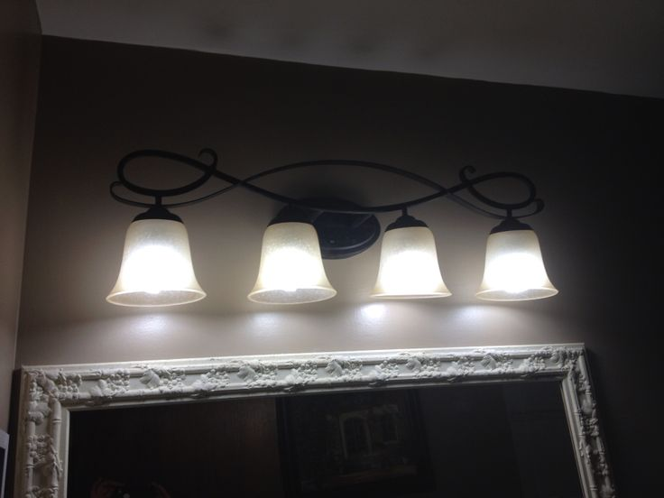 Love my new bathroom light fixture . And it's from Canadian tire :)