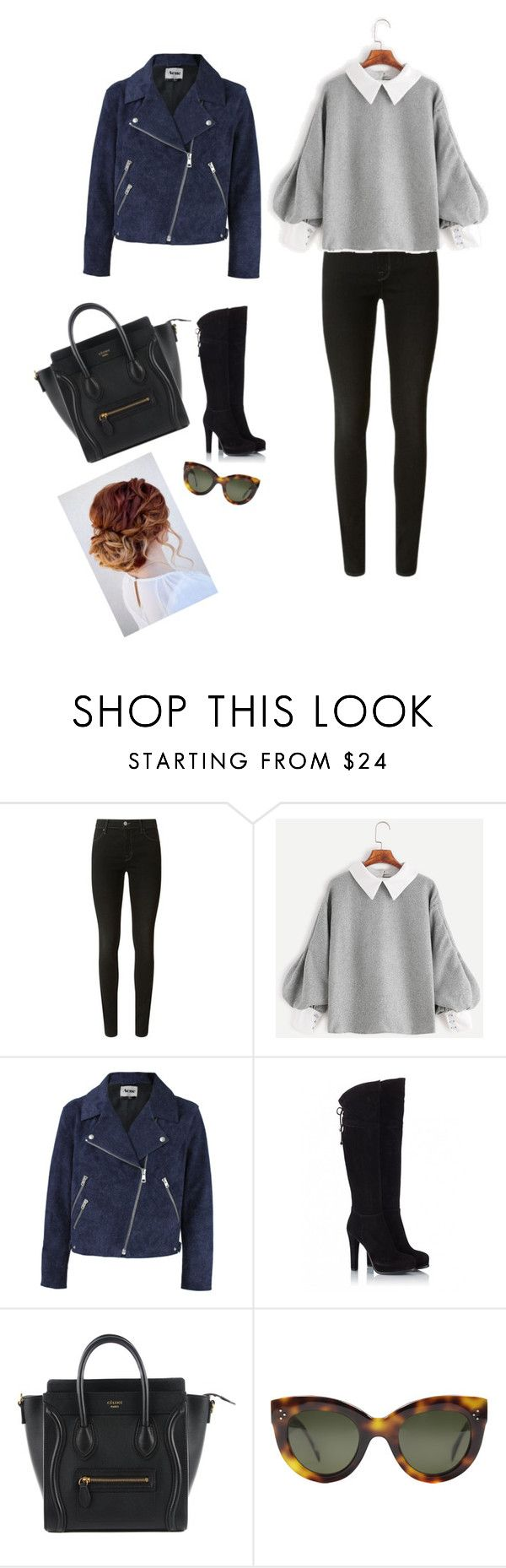 """""""Untitled #3550"""" by audrey-balt ❤ liked on Polyvore featuring J Brand, Acne Studios, Fratelli Karida and CÉLINE"""