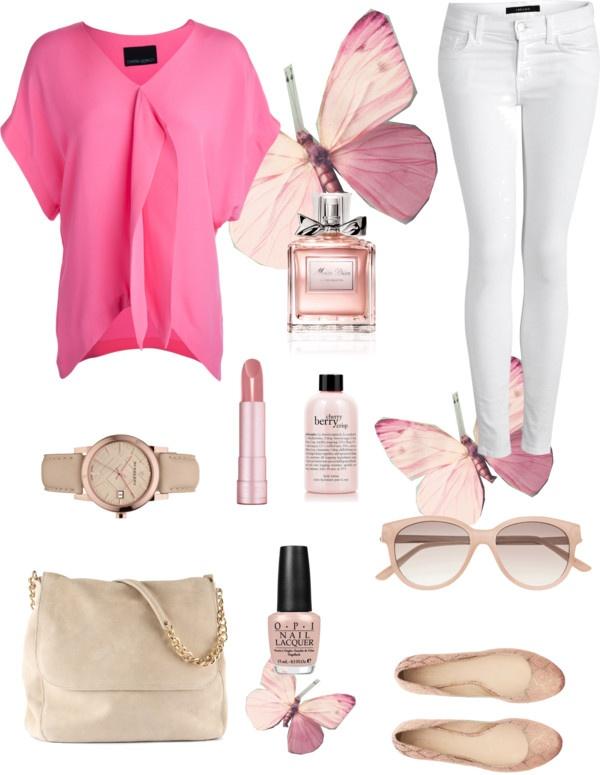 """Pink"" by lnguyen18 on Polyvore"