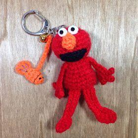 stuff susie made: Mini Crochet Elmo - free crochet / amigurumi pattern