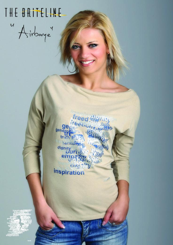 """AIRBORNE"" T-shirt."