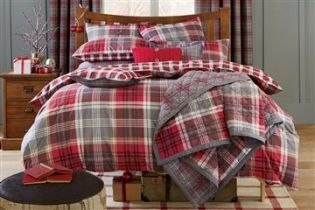 Buy Reversible Red And Grey Check Throw from the Next UK online shop