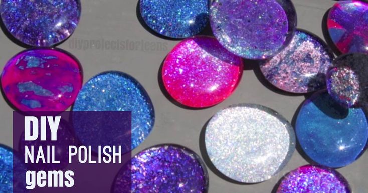Diy crackled nail polish gems crafts lazy sunday and polish for Crafts using nail polish