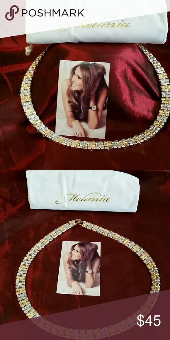 Selling this Melania Trump Gold Two-tone Necklace on Poshmark! My username is: fashionamazon. #shopmycloset #poshmark #fashion #shopping #style #forsale #Melania Trump  #Jewelry