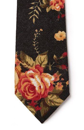 Topman Floral Print Woven Tie | Nordstrom