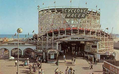 Long Beach Pike bob sled ride in the Amusement Park - Bing Images