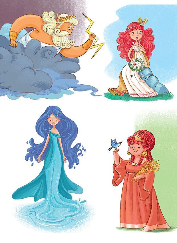 Greek Myths for Children: Characters - Barbara Bongini #greek #zeus #orpheus #eurydice  #monsters #mermaids #heroes #heroines #love #amore #miti #greci #eroi #ancient #greece #myths #legends #hera #athena #Aphrodite #ariadne #theseus #hades #persephone #eros #psyche #greek #myths #legends #ancient #greece #childrensbook #illustration #kidlit #kidlitart #kidlitartist #kidsbook #booksforkids #raiseareader #read #books #artist #art #barbarabong