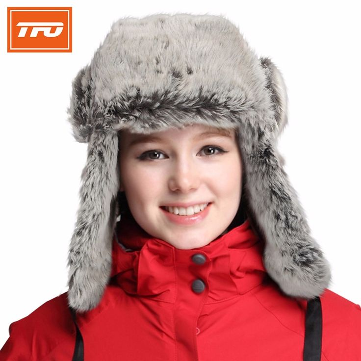TFO women winter hat mens winter hats ear flaps snow mink fur hats man hunting cap windproof woman outdoor hiking cap 331418