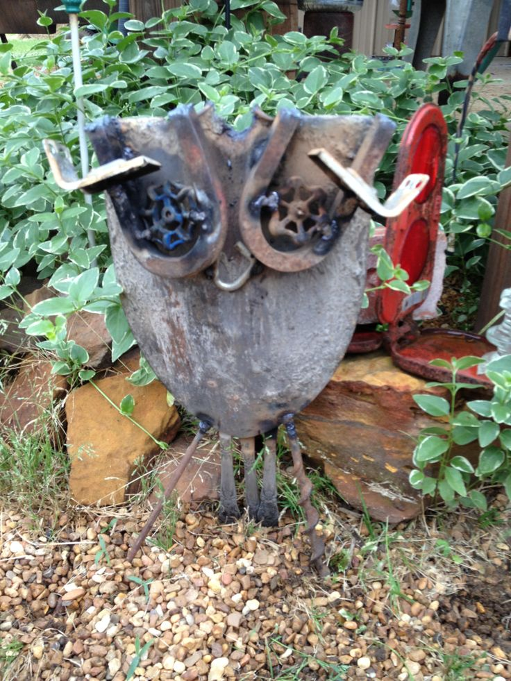 Junk Art Garden Owl Got Junk Pinterest Junk Art And Owl
