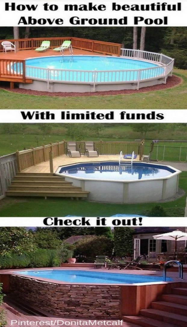 Tired Of The Crowd At The Swimming Pool Near Your House If You Want To Make A Swimming Pool At Your Home Without Spending A Backyard Pool Pool Building A Deck