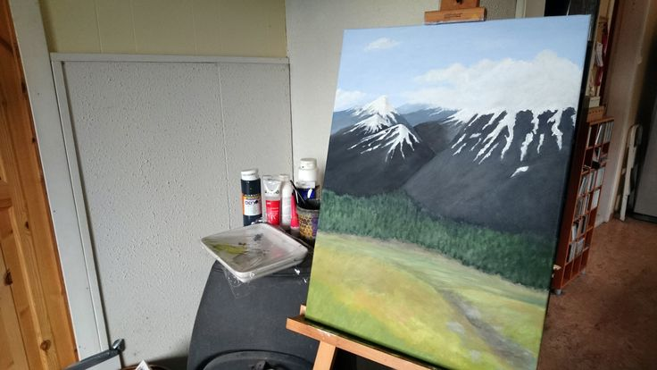 The Journey to Create the Acrylic Painting Called Jotunheim