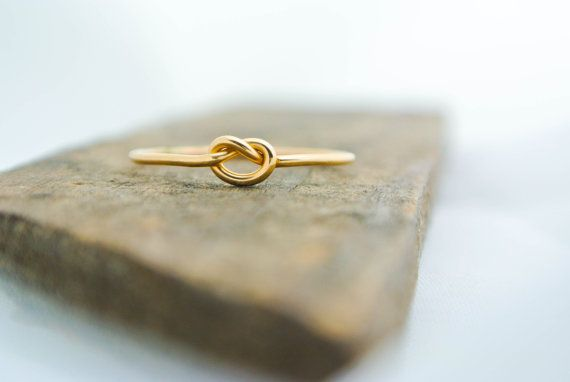 Hey, I found this really awesome Etsy listing at https://www.etsy.com/ca/listing/227257705/gold-love-knot-ring-14k-gold-filled