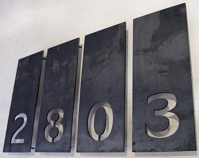 Aligned Single Number Address Plaques Exterior Detail Pinterest