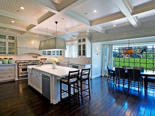 Love All The Kitchen Space And Giant Window Beside Dining Room Table