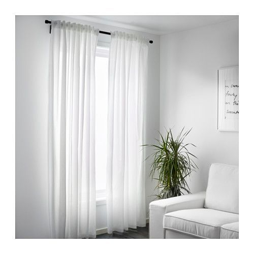 VIVAN Cortinados, 1 par, branco branco 145x300 cm