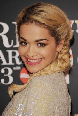 Rita Ora's Classic French Plait