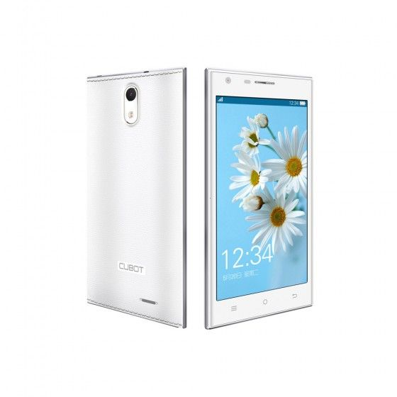 Cubot Smartphone S308 WCDMA 3G Quad Core Cell Phone MT6582 Android 4.2 5.0'' IPS Capacitive Touch Screen 2GB 16GB 8MP 13MP Camera White