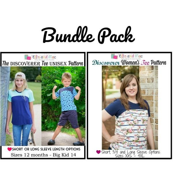 Discoverer Tee Pattern Bundle Pack Ellie Mac Pdf Sewing