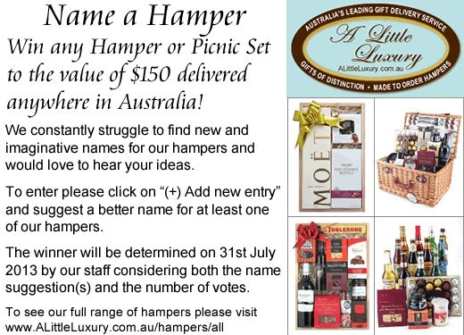 A Little Luxury Gifts & Hampers Australia - Hamper Name Suggestions