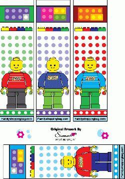 Free Printable Lego Bookmarks