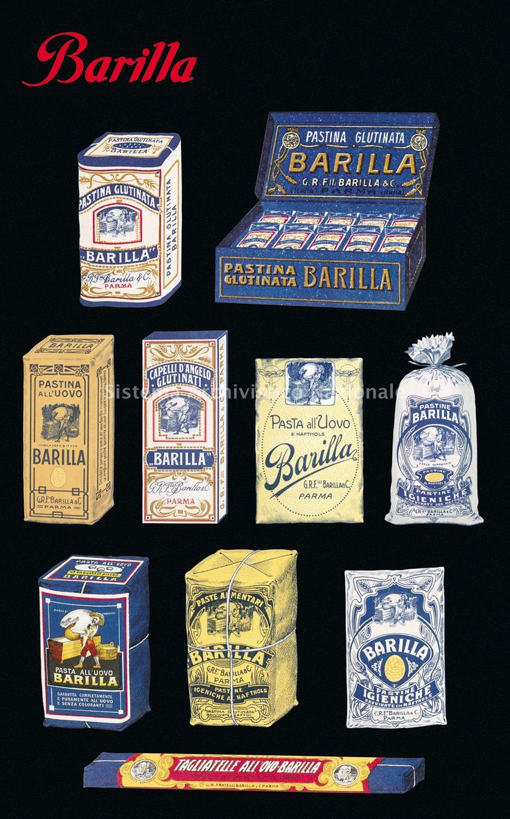 storia del Packaging Barilla dal 1910 al 1930