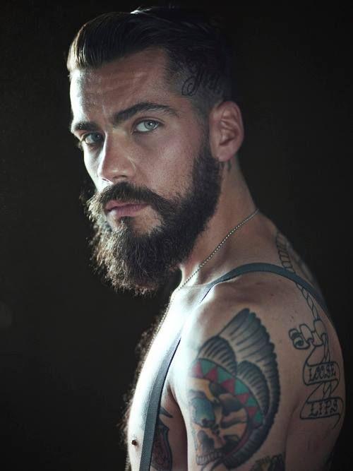 Tattooed bearded man - photo#12