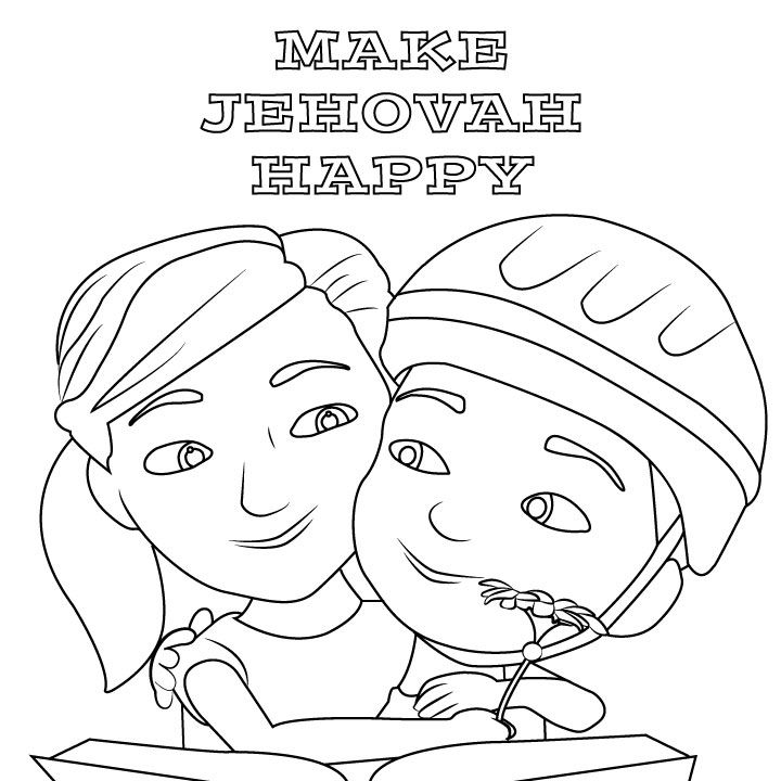 Bible Study Coloring Pages #9