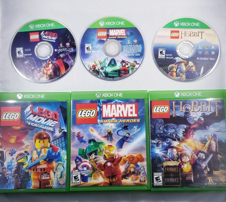 3 XBOX ONE Games. LEGO The Movie, LEGO Marvel Super Heroes