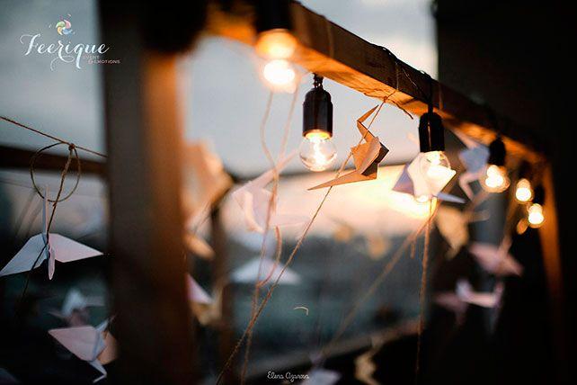 Свадьба для двоих на крыше, декор свадебной арки
