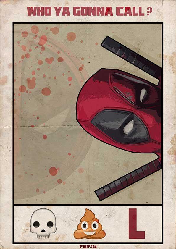 Deadpool (2016) ~ Minimal Movie Poster by 3ftdeep #amusementphile
