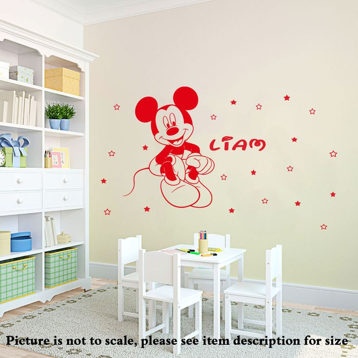 Disney Mickey Mouse Personalised Wall Sticker Art Decal Mural Vinyl 20 Stars D11