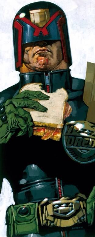 Original promo Dredd art for 90s 'lads' mag'