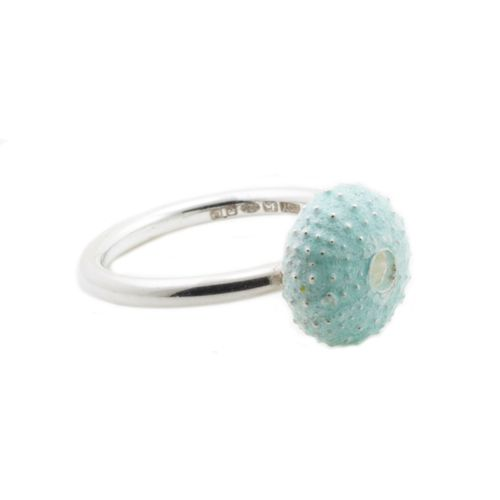 Enamelled Silver Urchin Ring, by Alex Yule #handmadejewellery #silver #ring